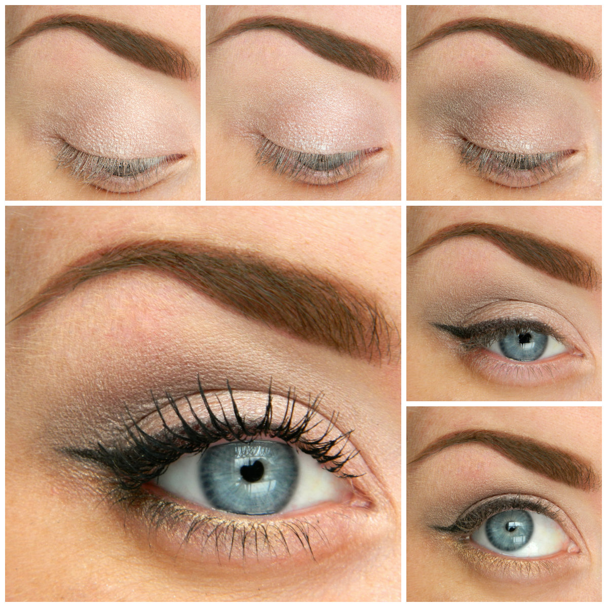 Natural makeup look for blue eyes