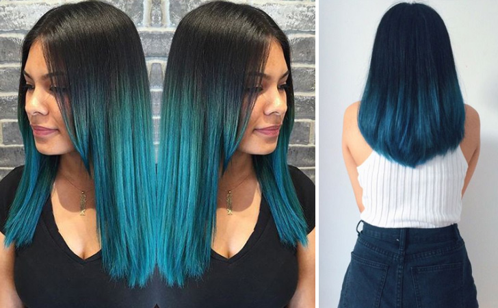 best blue ombre hair color ideas 20 Amazing Blue Ombre Hairstyles 2021
