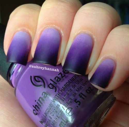 Purple Ombre Nails. Cute Nail Designs - 30 Really Cute Nail Designs You Will Love - Nail Art Ideas 2019