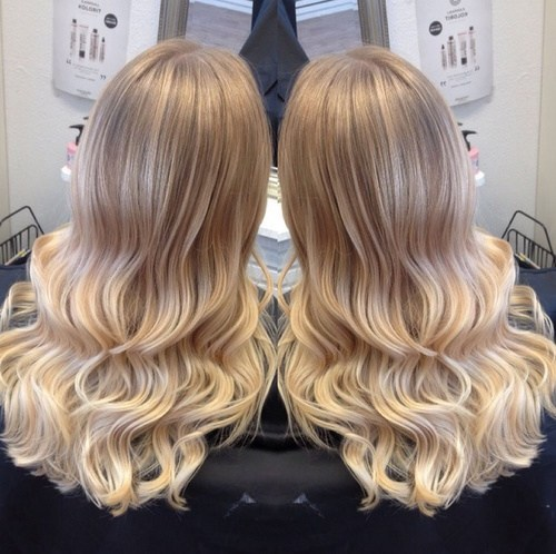 Cool Ice Blonde To Warm Light Ombre