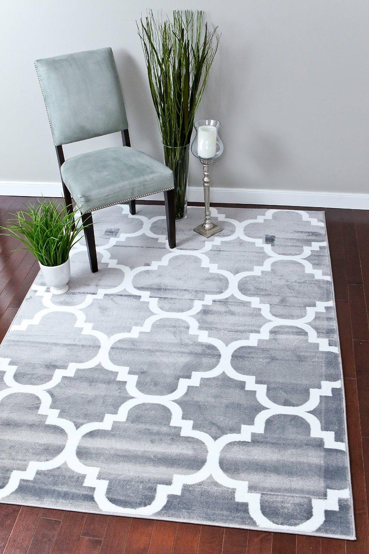 Persian Rugs Gray Moroccan Trellis 5 2 X 7 Area Rug Carpet