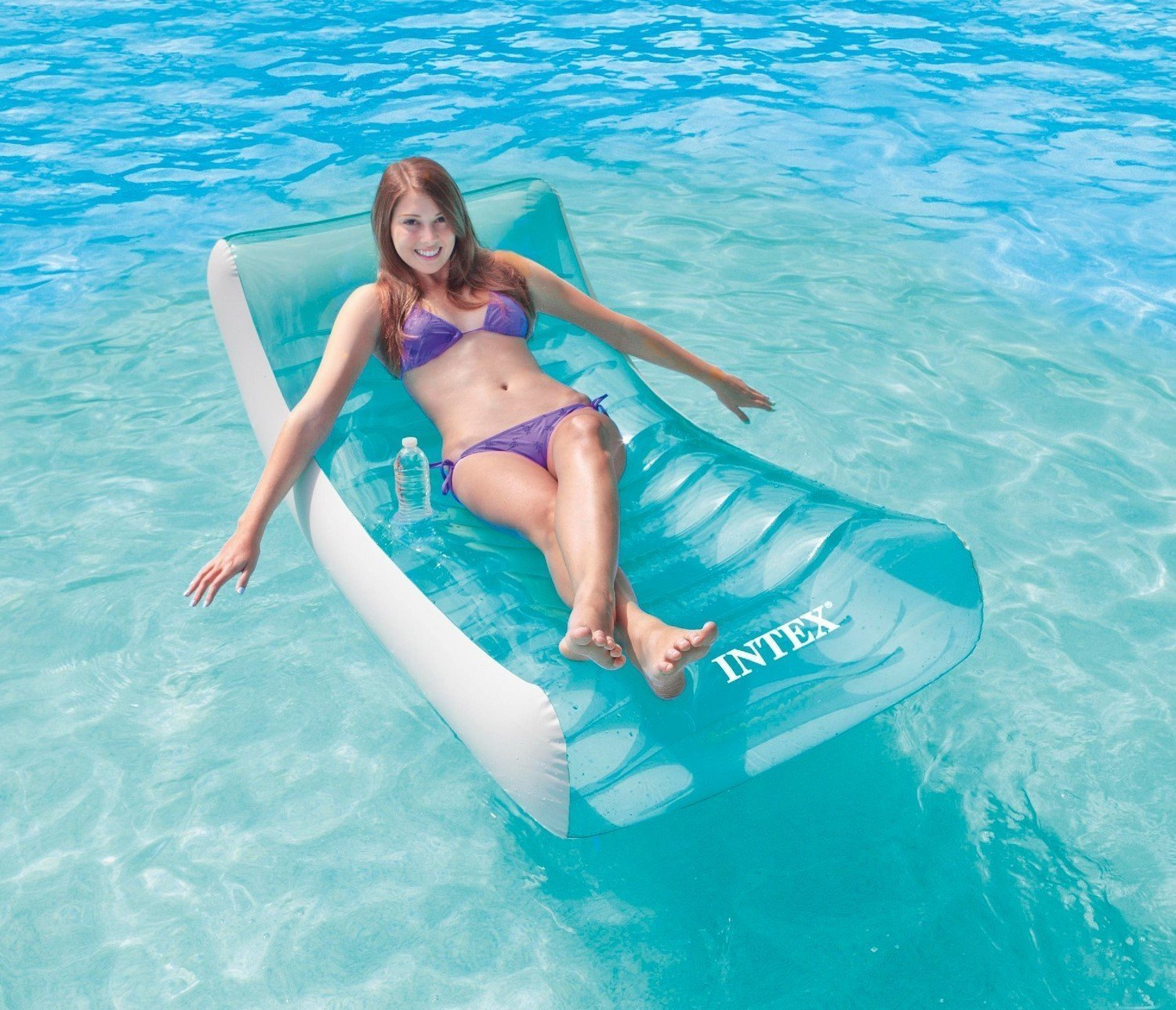Intex Rockinu0027 Inflatable Lounge  sc 1 st  Her Style Code & 10 Best Swimming Pool Loungers 2018 - Top Floating Pool loungers chairs