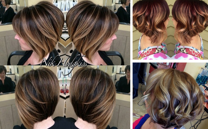 Hair Styles For Short Hair With Color: 30 Stunning Balayage Short Hairstyles 2019