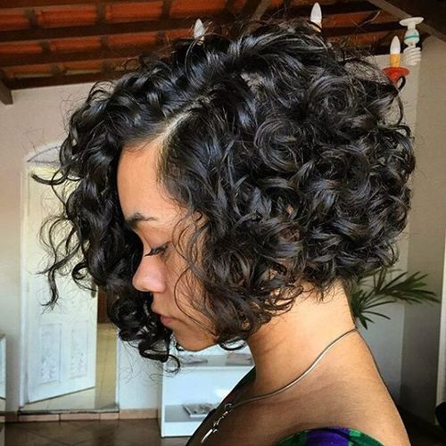 best short curly bob hairstyle for women 2017
