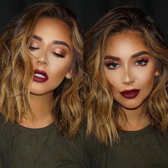 contouring and highlighting makeup idea