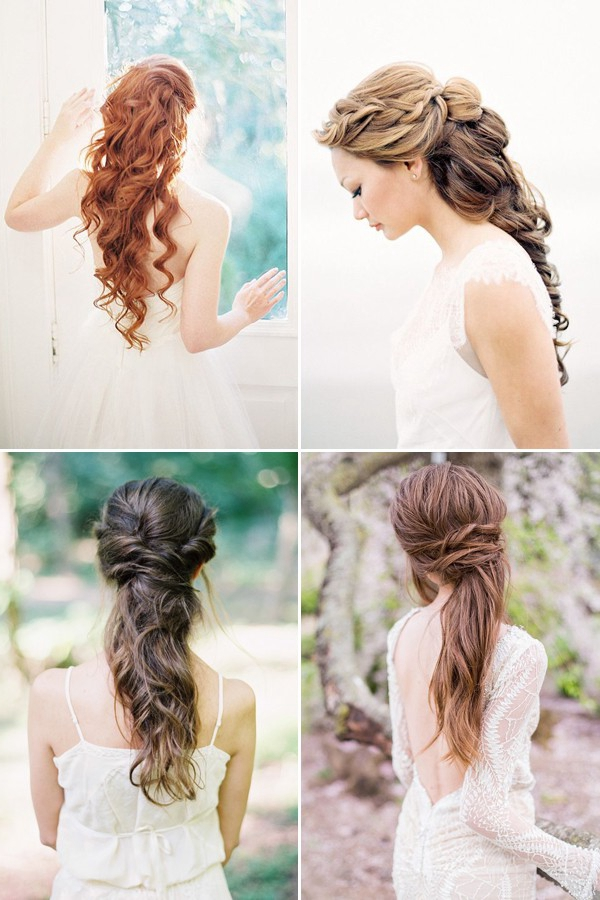 100 romantic long wedding hairstyles 2018 curls half up updos long down wedding hairstyles for long hair junglespirit Gallery