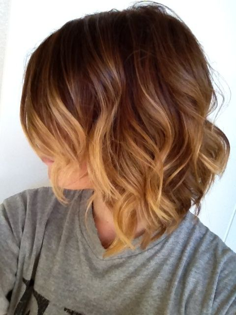 ombre-beachy-waves-for-short-hair