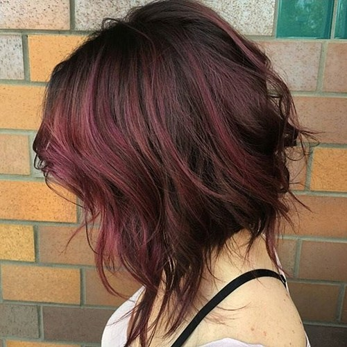 Red Highlighted Medium Hairstyle