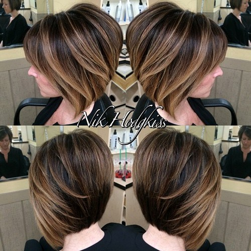 Haircut Ideas For Short Hair Balayage Long Bob Highlights Hairstyles Colors Photos