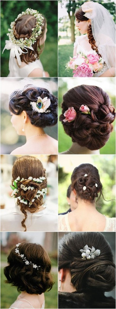 100 romantic long wedding hairstyles 2018 curls half up updos updo wedding hairstyles with flowers junglespirit Images