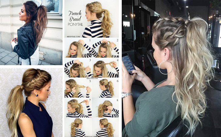 Best Ponytails For Long Medium Hair Straight Messy 12 Quick And Easy Braided Hairstyles