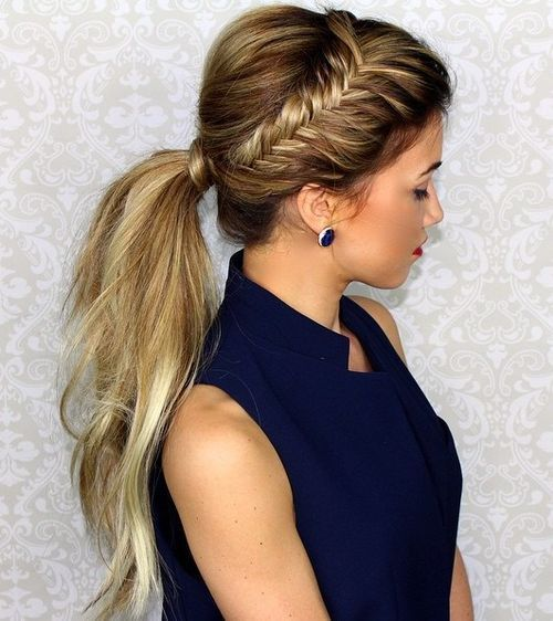 22 Cute Ponytails for Long & Medium Length Hair - Straight, Messy ...