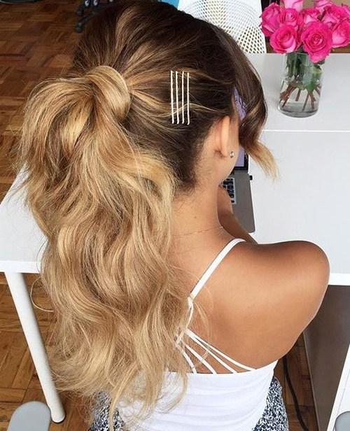 22 Cute Ponytails For Long Medium Length Hair Straight Messy