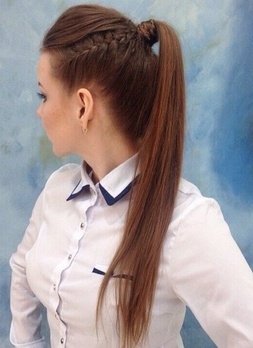 22 cute ponytails for long amp medium length hair   straight