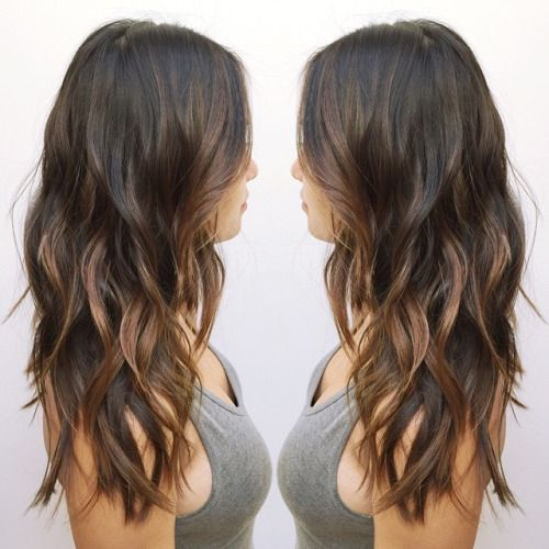 Asian Balayage hairstyle for long hair