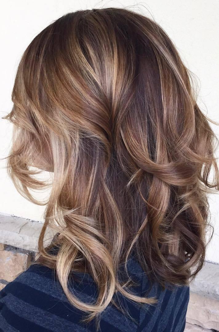 Asian girls Balayage hairstyle