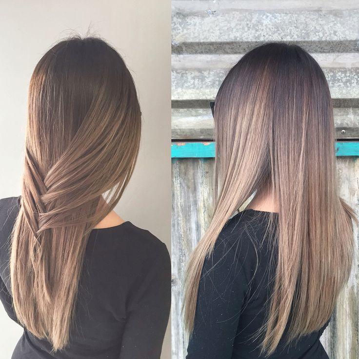 Blonde Balayage Straight Hair