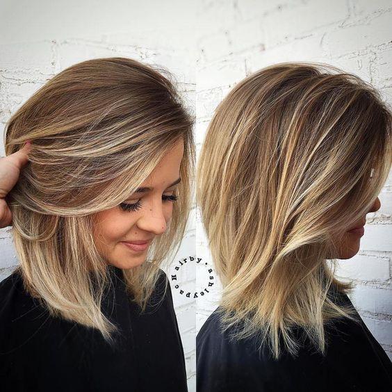 balayage Medium Length Haircuts for Thick Hair