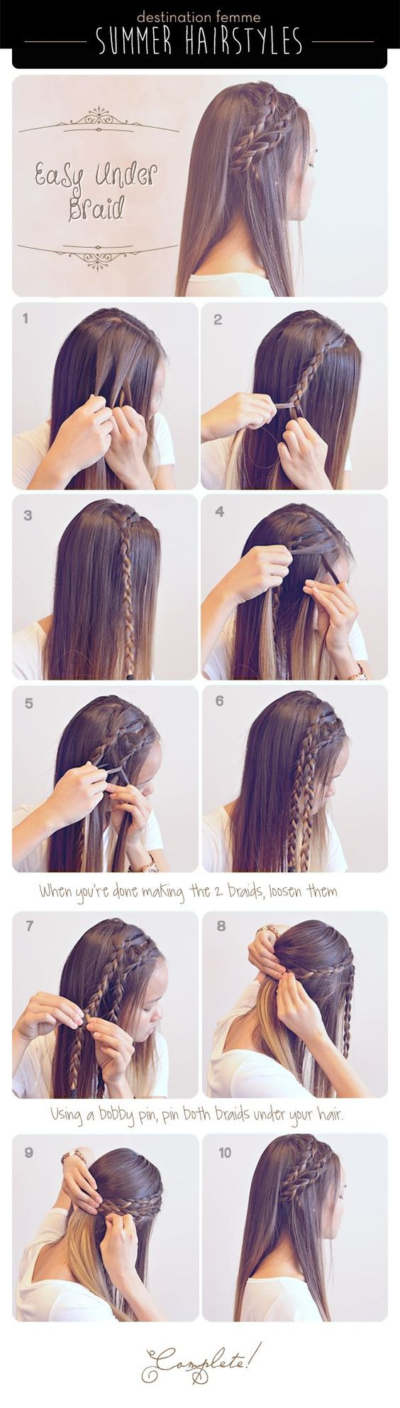 Easy Step by step hair tutorials for long hair