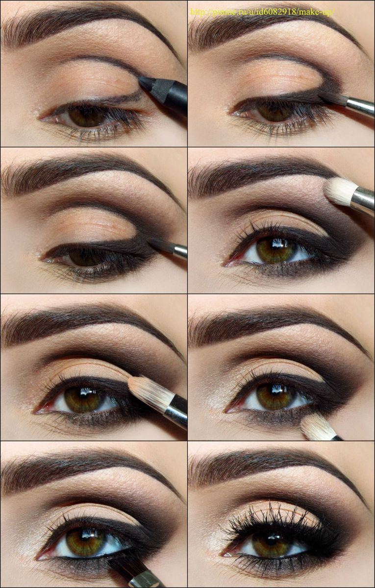 Easy Step By Step smokey eyeshadow tutorials
