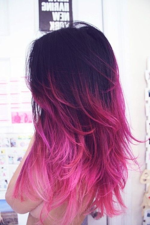 Dark To Red Ombre Hair From Tumblr