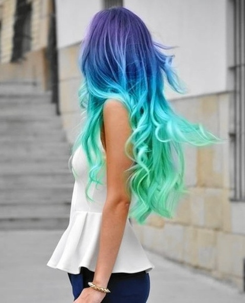 60 Trendy Ombre Hairstyles 2018 Brunette Blue Red