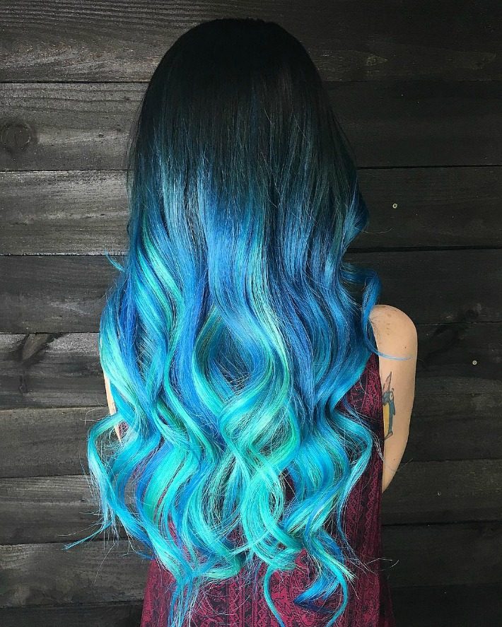 60 Trendy Ombre Hairstyles 2018 Brunette Blue Red Purple Green