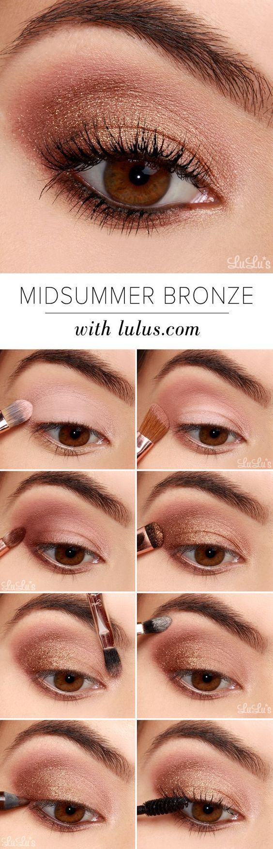 20 easy step by step eyeshadow tutorials for beginners her style code beautiful bronze blend step by step eyeshadow tutorials for beginners baditri Gallery