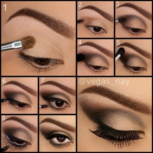Simple Eyeshadow Tutorials For Brown Eyes | Cosmetics Pictranslator