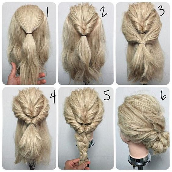 Easy Step By Step Hair Tutorial For Medium Hair