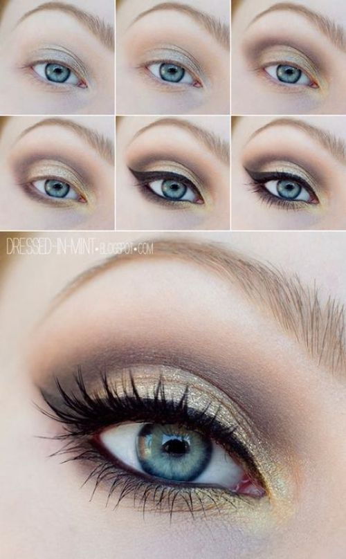 12 Easy Step By Step Makeup Tutorials For Blue Eyes Her Style Code