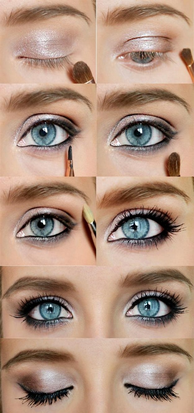 12 easy step-by-step makeup tutorials for blue eyes - her style code
