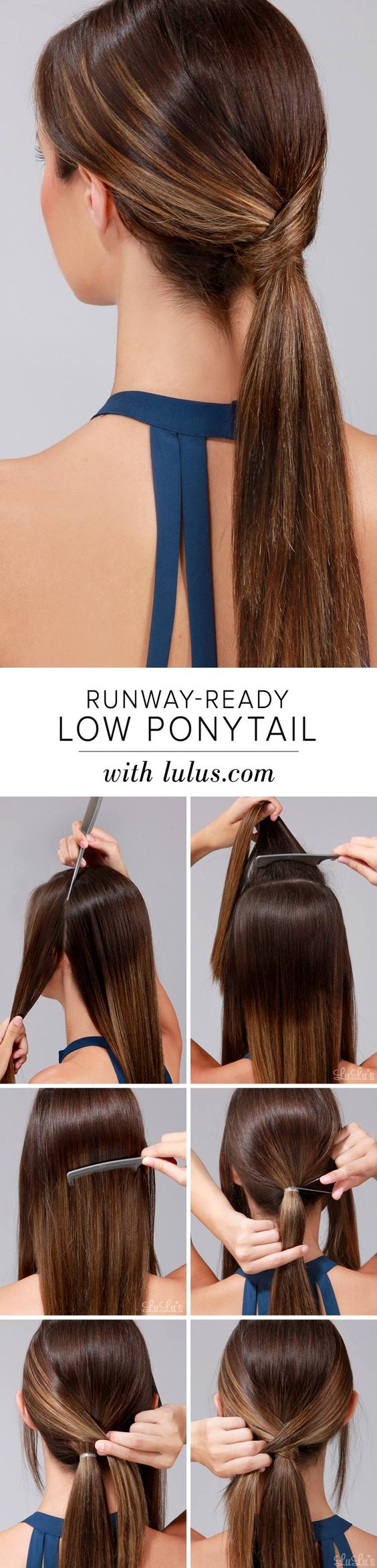 Step By Step Ponytail Tutorial