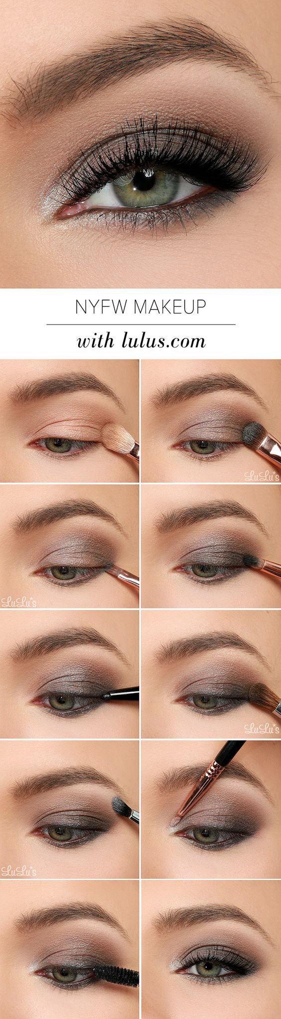 10 quick easy step by step smokey eye makeup tutorials 2018 easy step by step smokey eye makeup tutorials nyfw makeup baditri Choice Image