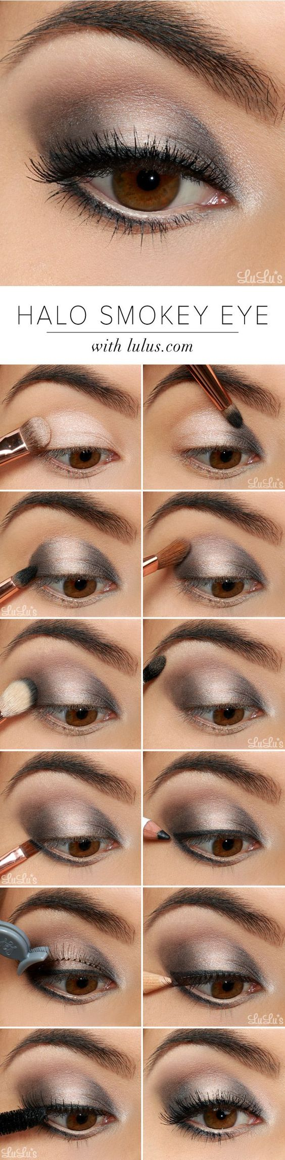 10 Quick Easy Step By Step Smokey Eye Makeup Tutorials 2018