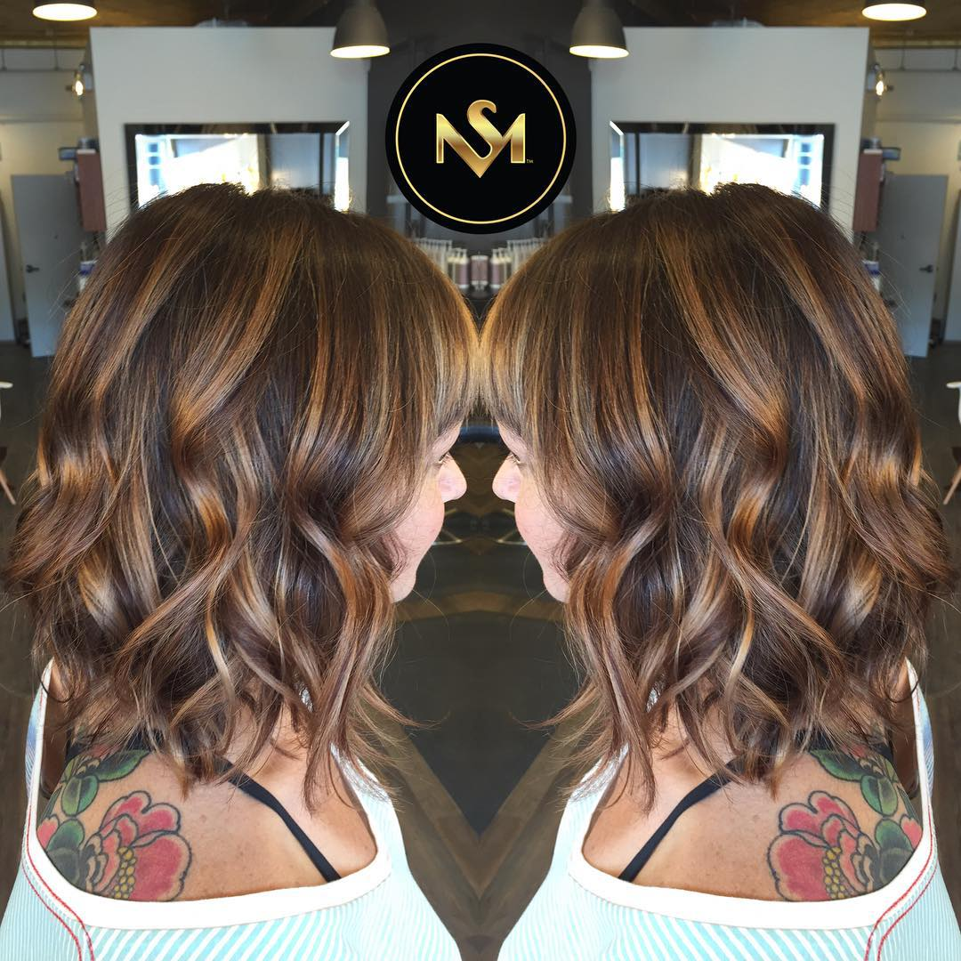 Hair Color Ideas: Perfect Balayage on Dark Hair, Brunette, Brown
