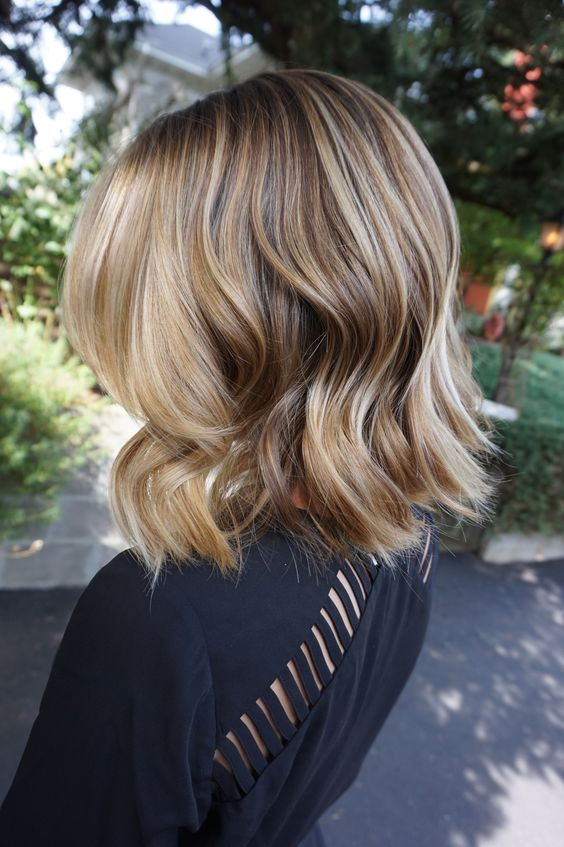Chin Length Balayage Lob Trendy Hair Color Ideas For Shoulder
