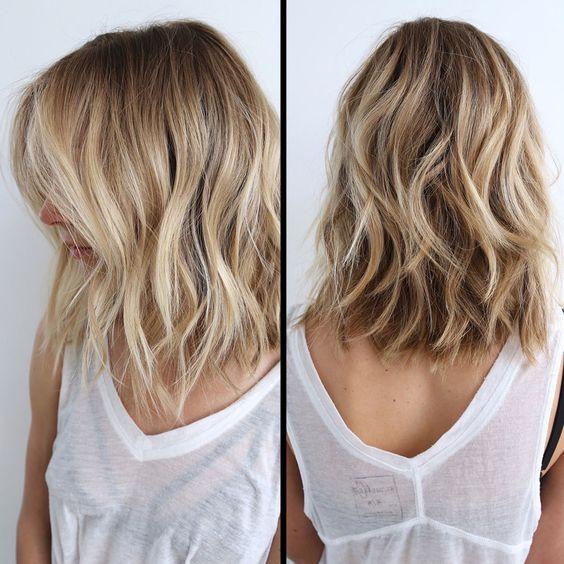 Shoulder length Balayage Hairstyles