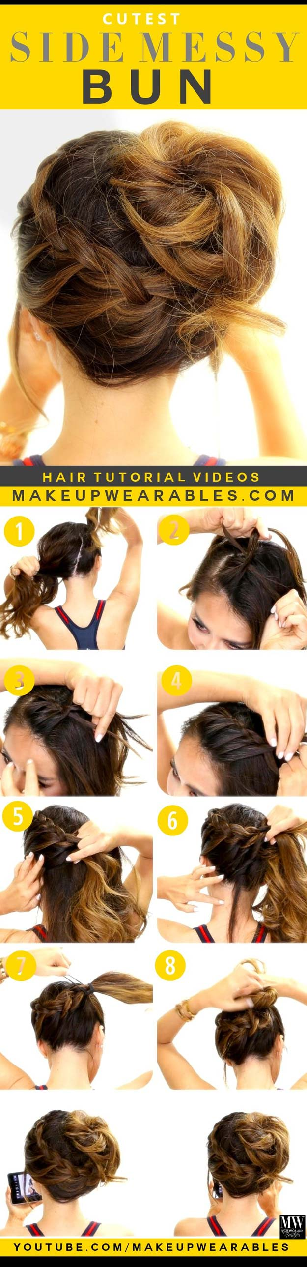 60 Easy Step By Step Hair Tutorials For Long Medium And Short Hair