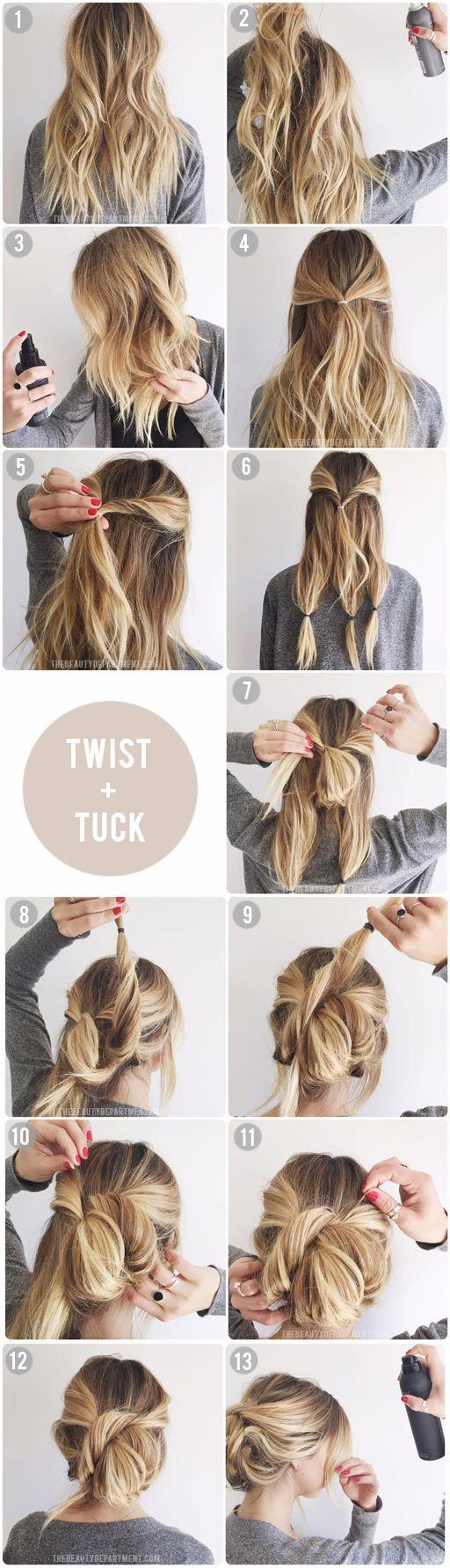 60 Easy Step by Step Hair Tutorials for Long, Medium,Short ...
