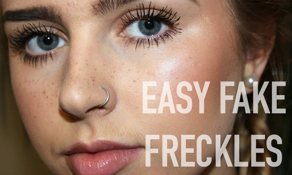 Fake Freckles How to Pull Off Fake Freckles