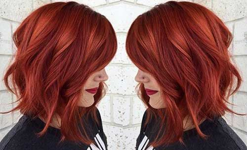 Red Hairstyles and Haircuts Ideas