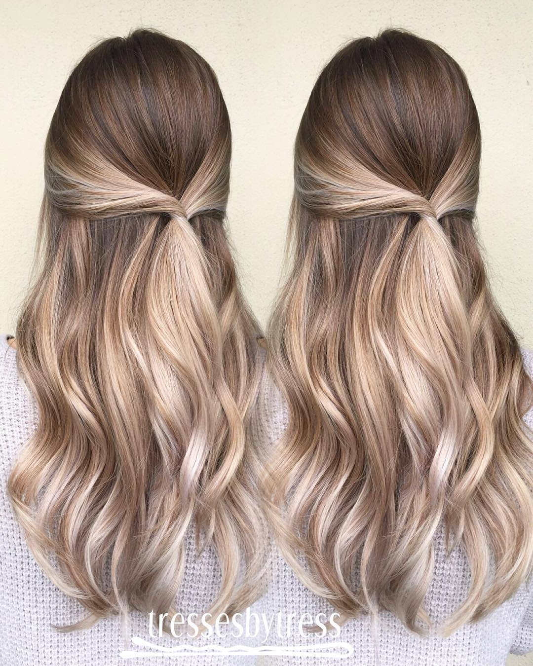Blonde And Brown Balayage Long Hair