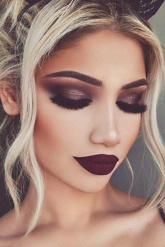 dark lipstick makeup looks