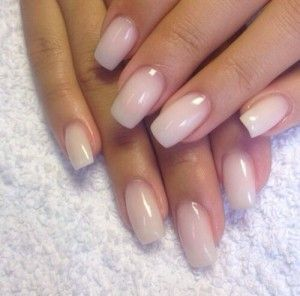 Natural Solar Gel Nails with Squared Tips | Square acrylic ...  |Clear Solar Nails