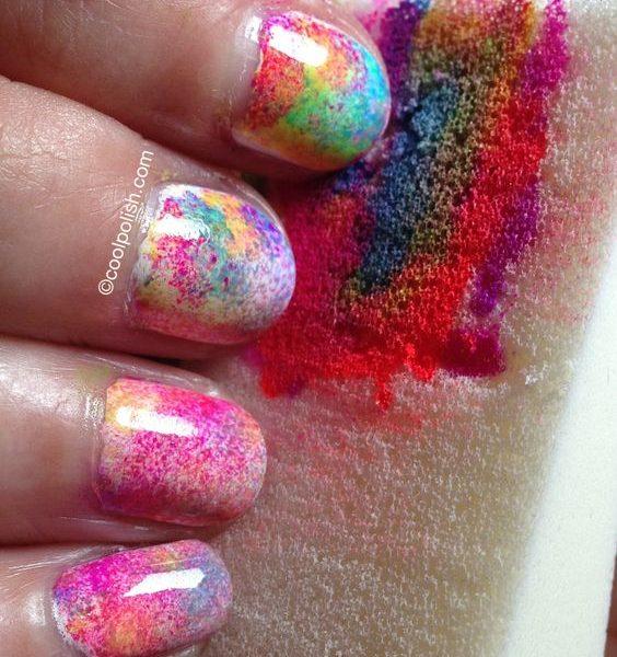 13 Fun Tie Dye Manicures For Free Spirits