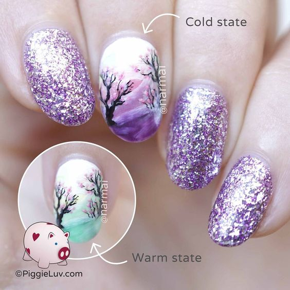 15 Color Changing Nail Inspirations - Cool Nail Art Designs - Her ...