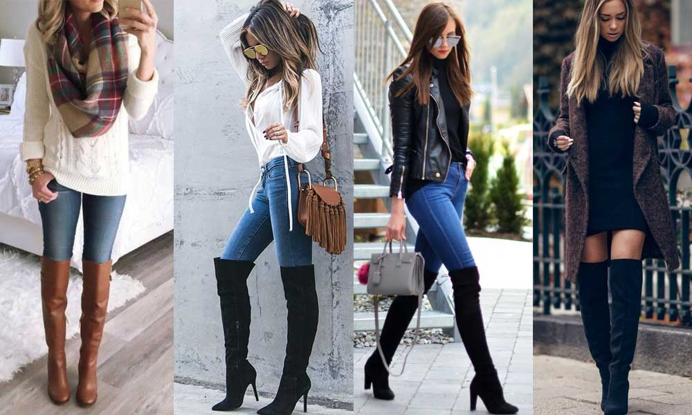 1745d49f257 How to Wear Knee-High Boots with Jeans - Her Style Code
