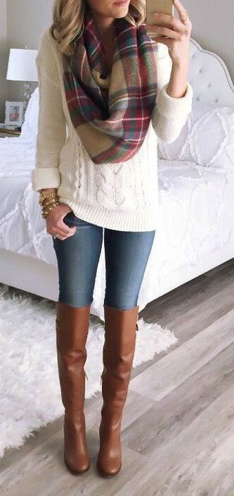 How to Wear Knee-High Boots with Jeans