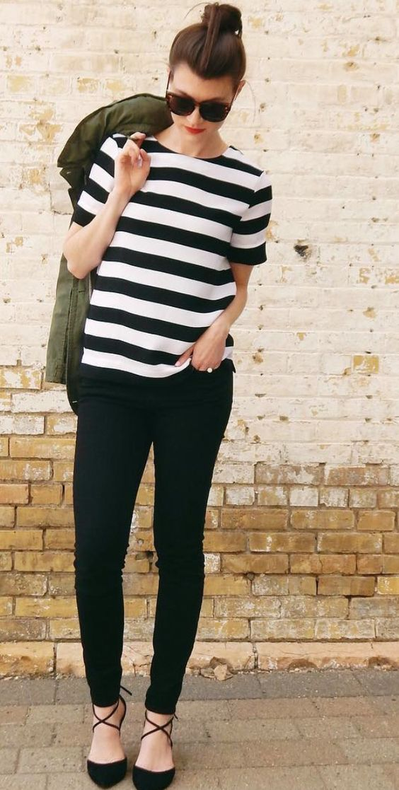 How to Wear Skinny Jeans With Flats
